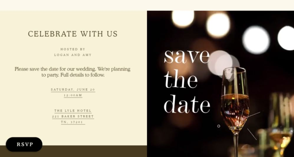 save the date ideas for events