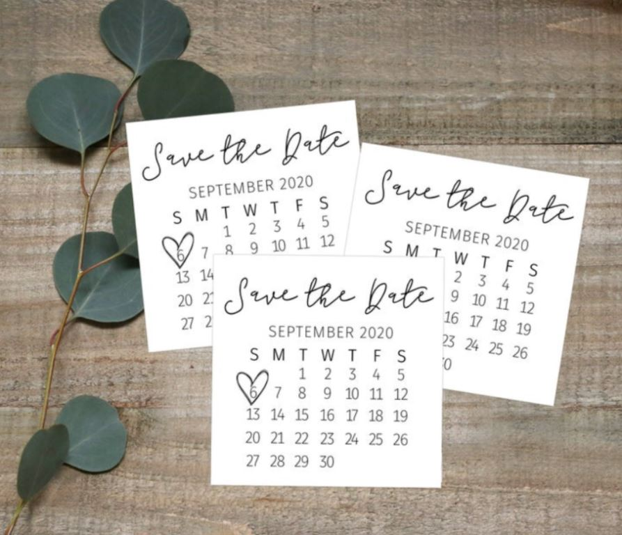 save the date layout ideas