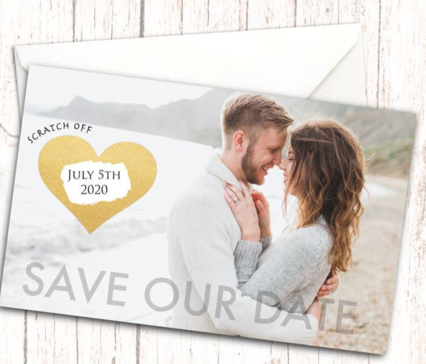 save the date ideas black and white
