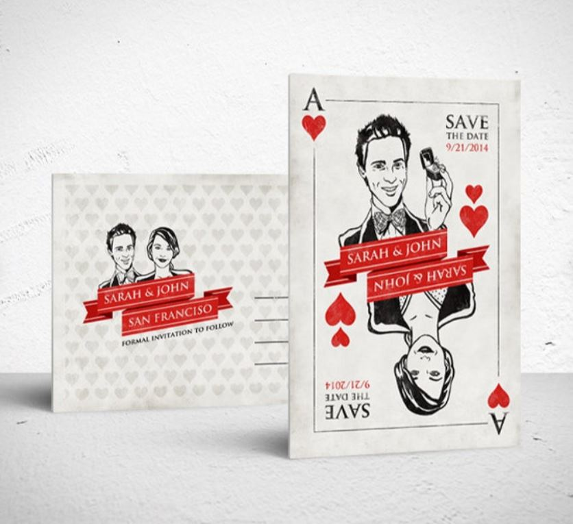 save the date ideas how to make